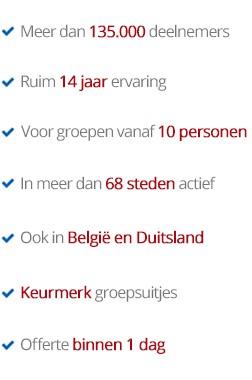 De beste bedrijfsuitjes in Arnhem